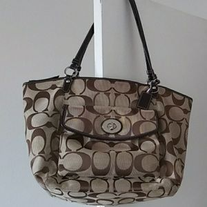 Coach tote great overnight bag or for shopping